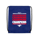 Royal Drawstring Backpack-2017 AAC Regular Season Champions Repeating - Mens Basketball