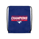 Royal Drawstring Backpack-2017 AAC Regular Season Champions - Mens Basketball Stencil