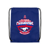 Royal Drawstring Backpack-2017 AAC Conference Champions - Mens Basketball Arched Shadow