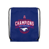 Royal Drawstring Backpack-2017 AAC Conference Champions - Mens Basketball Arched Banner