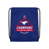 Royal Drawstring Backpack-2017 AAC Conference Champions - Mens Basketball Banners