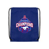 Royal Drawstring Backpack-2017 AAC Conference Champions - Mens Basketball Arched Net