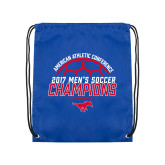 Royal Drawstring Backpack-2017 Mens Soccer Champions