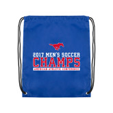 Royal Drawstring Backpack-2017 Mens Soccer Champs