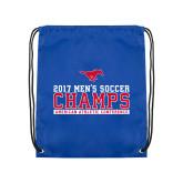 Royal Drawstring Backpack-2017 Mens Soccer Champs