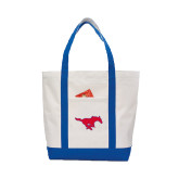 Contender White/Royal Canvas Tote-Official Outlined Logo