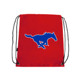 Red Drawstring Backpack-Official Outlined Logo