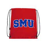 Red Drawstring Backpack-Block SMU