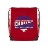 Red Drawstring Backpack-2017 AAC Regular Season Champs - Mens Basketball Half Ball