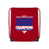 Red Drawstring Backpack-2017 AAC Regular Season Champions Repeating - Mens Basketball