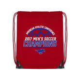 Red Drawstring Backpack-2017 Mens Soccer Champions