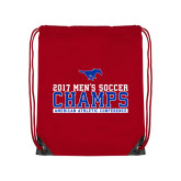 Red Drawstring Backpack-2017 Mens Soccer Champs