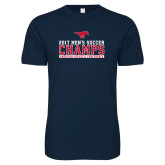 Next Level SoftStyle Navy T Shirt-2017 Mens Soccer Champs