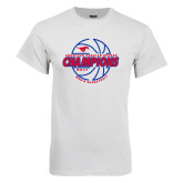 White T Shirt-AAC Regular Season Champions 2017 Mens Basketball Lined Ball