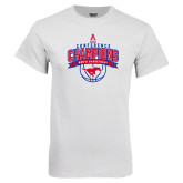 White T Shirt-2017 AAC Conference Champions - Mens Basketball Arched Banner