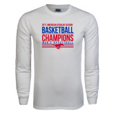 White Long Sleeve T Shirt-2017 AAC Regular Season Mens Basketball Champions Stacked