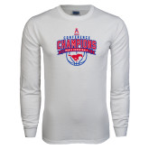 White Long Sleeve T Shirt-2017 AAC Conference Champions - Mens Basketball Arched Banner
