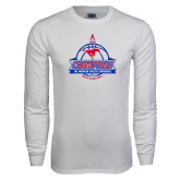 White Long Sleeve T Shirt-2017 AAC Conference Champions - Mens Basketball Banners