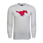 White Long Sleeve T Shirt-Official Outlined Logo