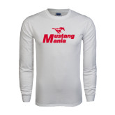 White Long Sleeve T Shirt-Mustang Mania
