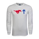 White Long Sleeve T Shirt-Pony Up