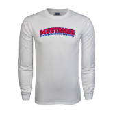 White Long Sleeve T Shirt-Arched Mustangs