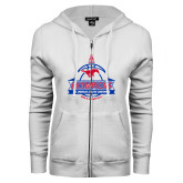 ENZA Ladies White Fleece Full Zip Hoodie-2017 AAC Conference Champions - Mens Basketball Banners