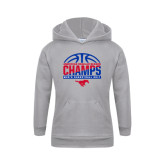 Youth Grey Fleece Hood-2017 AAC Regular Season Champs - Mens Basketball Half Ball