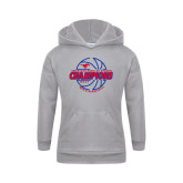 Youth Grey Fleece Hood-AAC Regular Season Champions 2017 Mens Basketball Lined Ball
