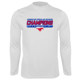 Performance White Longsleeve Shirt-2017 AAC Regular Season Champions - Mens Basketball Stencil