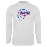 Performance White Longsleeve Shirt-2017 AAC Conference Champions - Mens Basketball Contour Lines