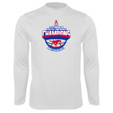 Syntrel Performance White Longsleeve Shirt-2017 AAC Conference Champions - Mens Basketball Arched Shadow