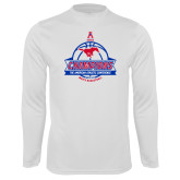 Performance White Longsleeve Shirt-2017 AAC Conference Champions - Mens Basketball Banners