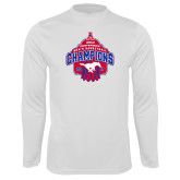 Performance White Longsleeve Shirt-2017 AAC Conference Champions - Mens Basketball Arched Net