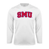 Performance White Longsleeve Shirt-Block SMU