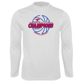 Performance White Longsleeve Shirt-AAC Regular Season Champions 2017 Mens Basketball Lined Ball
