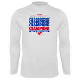 Performance White Longsleeve Shirt-2017 AAC Regular Season Champions Repeating - Mens Basketball