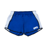 Ladies Royal/White Team Short-Block SMU