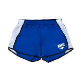 Ladies Royal/White Team Short-SMU w/Mustang