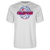 Performance White Tee-AAC Regular Season Champions 2017 Mens Basketball Lined Ball
