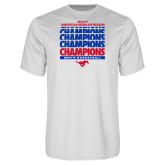 Performance White Tee-2017 AAC Regular Season Champions Repeating - Mens Basketball