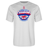 Performance White Tee-2017 AAC Conference Champions - Mens Basketball Arched Shadow