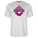 Performance White Tee-2017 AAC Conference Champions - Mens Basketball Arched Net
