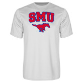 Syntrel Performance White Tee-SMU w/Mustang