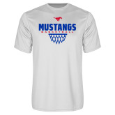 Performance White Tee-Mustangs Basketball Net Icon