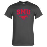 Charcoal T Shirt-SMU w/Mustang