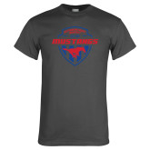 Charcoal T Shirt-Mustangs in Shield