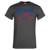 Charcoal T Shirt-Stacked Mustangs Design