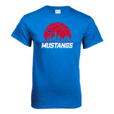 Royal T Shirt-Mustangs Basketball Dallas Skyline