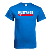 Royal T Shirt-Mustangs Basketball Stacked Bar